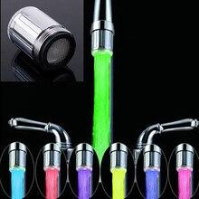 Tap распыления водопроводный rgb кран светодиодов комната ванная красочные цветов из