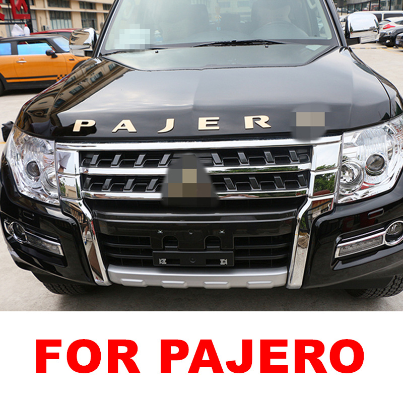 CAR ACCESSORIES Stainless Steel for Pajero Word 3D Letter car Sticker Trim for Mitsubishi Pajero Chrome Plating
