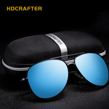 2016 HDCRAFTER Best Men's Aviator Polarized Sun Glasses Colorful Lens Fashion Cool Eyewear Retro Oculos De Sol With Case