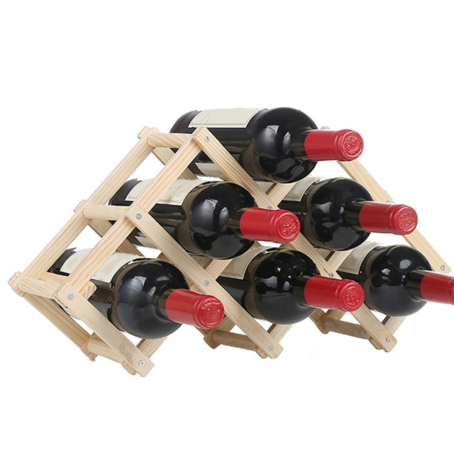 Wine Rack Wooden Wine Bottle Holders Folding 610 Bottle Holder Wine