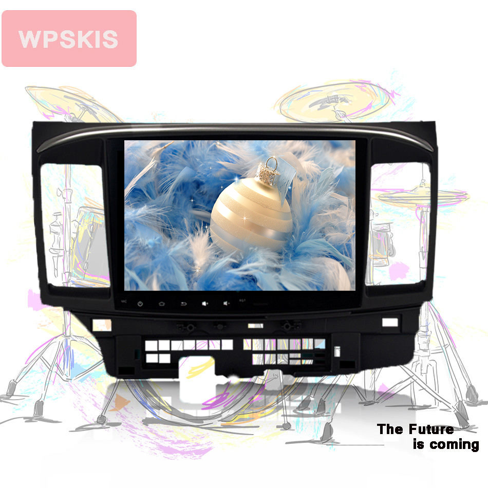 Dvd Video-Player 15-Head-Unit Car-Stereo Auto 2008 Android 9.0 Mitsubishi Lancer 2007