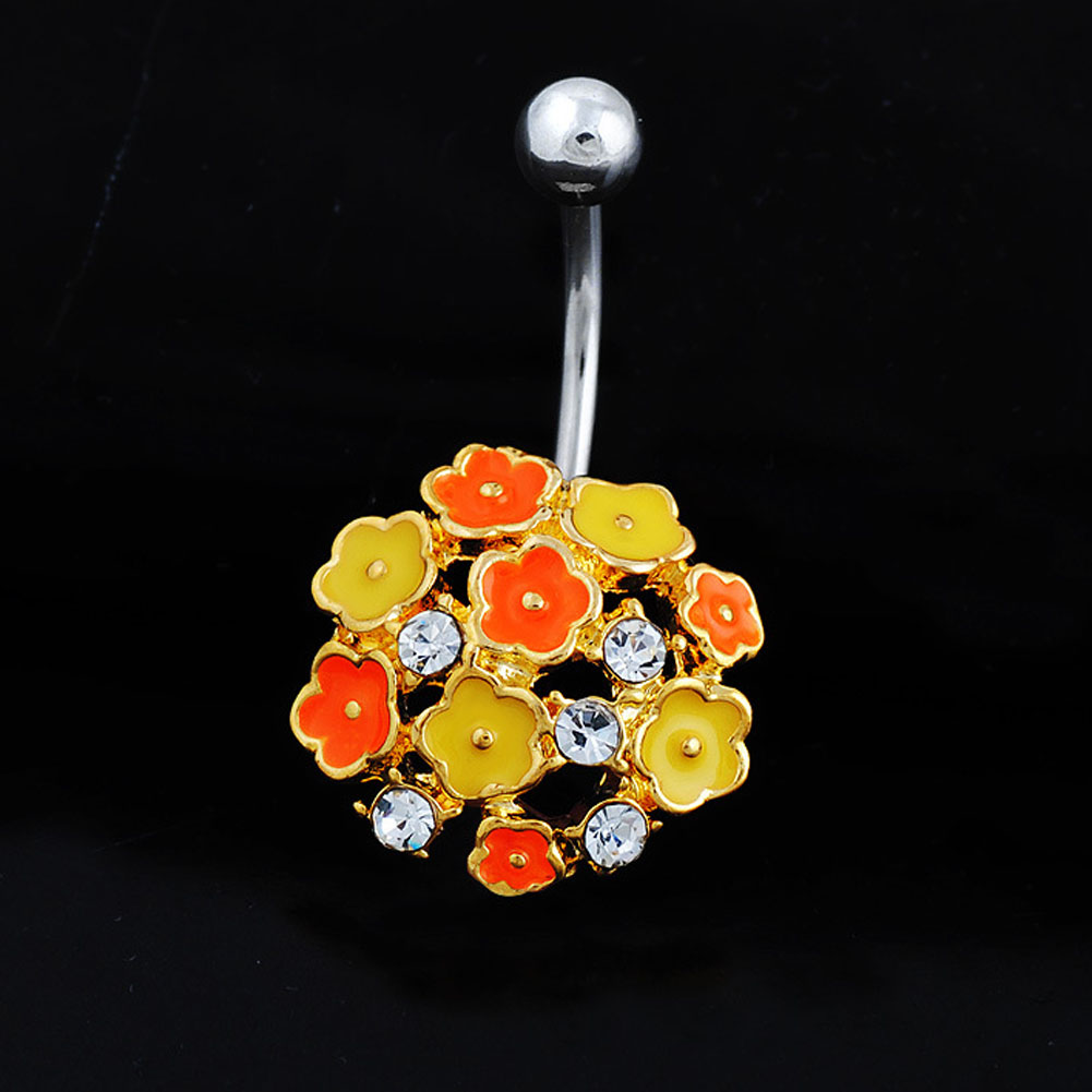 New Flower Rhinestone Fake Piercing Medical Steel Fashion Navel Belly  Button Rings Umbilical Nail Body Jewelry 88 88  M-in Body Jewelry from  Jewelry ... 91795216942c
