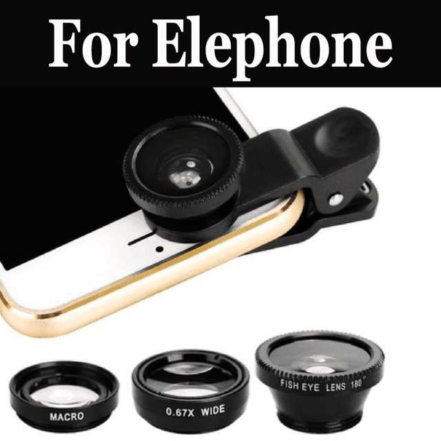 3In1 Phone Fish Eye+Wide Angle+Macro Lens For Elephone P9000 Lite P9000 R9 S7 Mini S7 M3 S3 Vowney P8 mini C1 Max S8 P8 U Pro