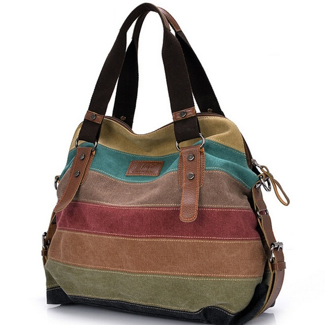 Online Shop GUDANSEN DHL Patchwork Canvas Bags Women Handbags ...