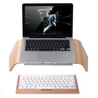 SAMDI Wooden Oblique Universal Laptop Stand Holder Bracket for MacBook Air/Pro