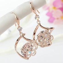 Flower Cubic Zircon Crystal Earrings