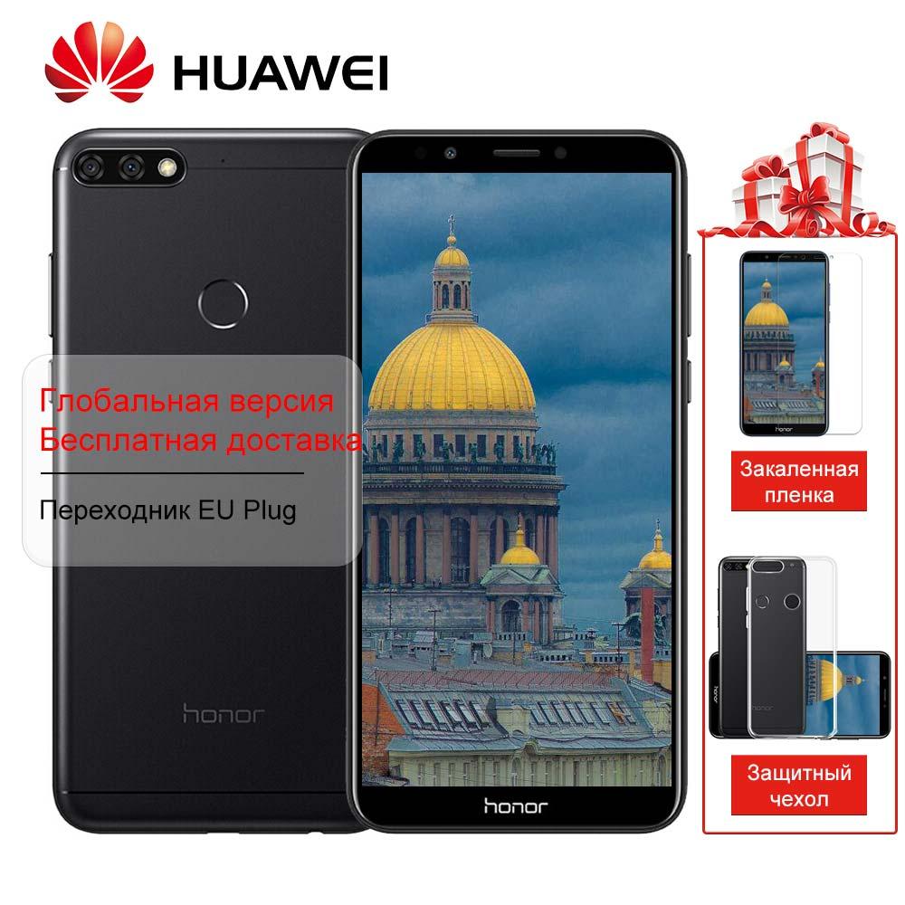 Huawei Honor 7C Mondiale Firmware Vue Plein Écran 5.99 Visage ID Smartphone Android 8.0 1.8 ghz * 8 13MP Double arrière Caméra