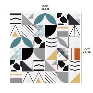 Image 4 - ホットブルー防水幾何タイル不足テーブルトップス壁アート家具自己粘着pvc壁紙ウォールステッカー