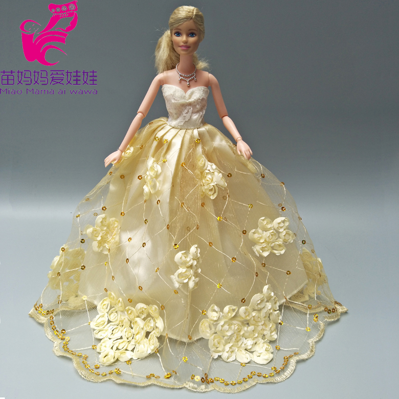 Buy barbie golden dress and get free shipping on AliExpress.com 416a04dd1e18