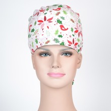 women medical scrub caps with sweatband,mask is available