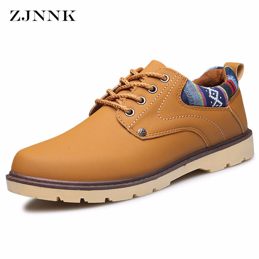 ZJNNK Hot Sale Leather Yellow Men Casual Shoes British Style Men Fashion Shoes Trendy Zapatos Hombres New Design Men Shoes 7701 цена 2017