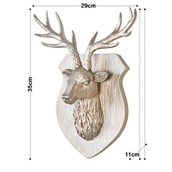 Superventas 2018 Productos Estilo Escandinavo Cabeza De Ciervo Animal Colgante De Pared 3D Estante De Decoración Estantes De Resina Artesanía