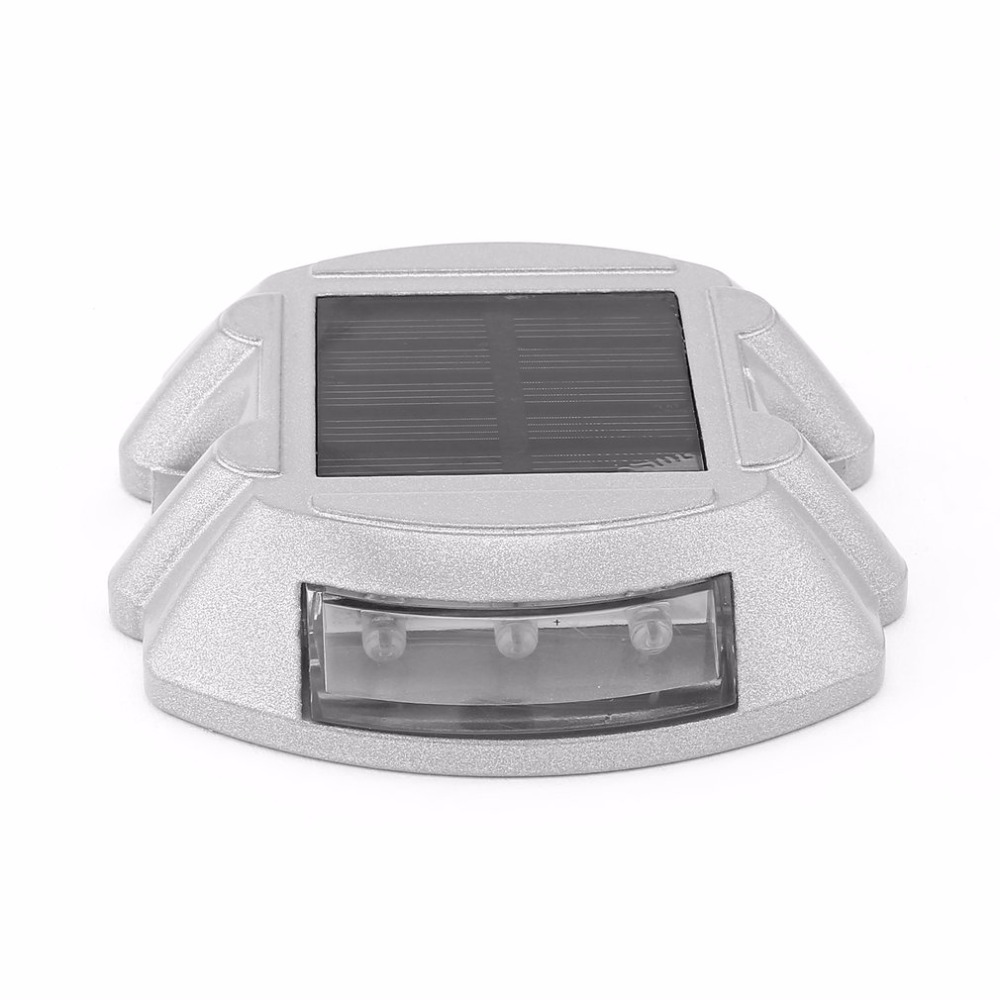 Solar Powered Ground Light Waterproof Garden Pathway Deck Lights With 6 LEDs Solar Lamp for Home Yard Driveway Lawn Road css rechargeable waterproof solar powered 30 led spot light white lamp with lithium battery inside for lawn garden road hot