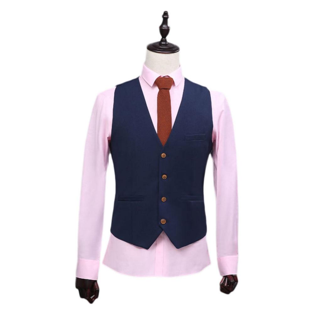 2017 Custom Made Navy Albastru Waistcoat Classic Cel mai bun Man Vest - Imbracaminte barbati