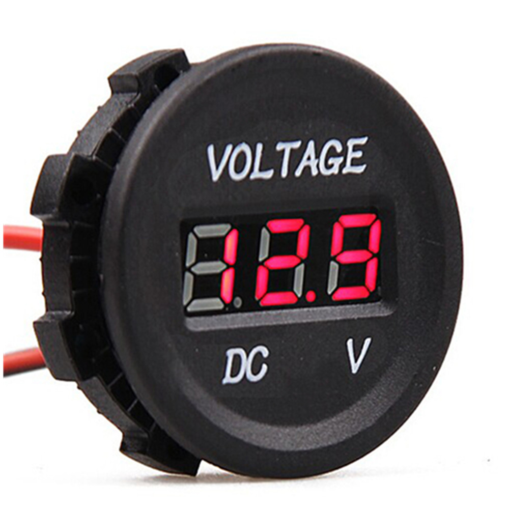 Automobile Motorcycle DC12V to 24V LED Digital Voltmeter/car modified voltage meter new
