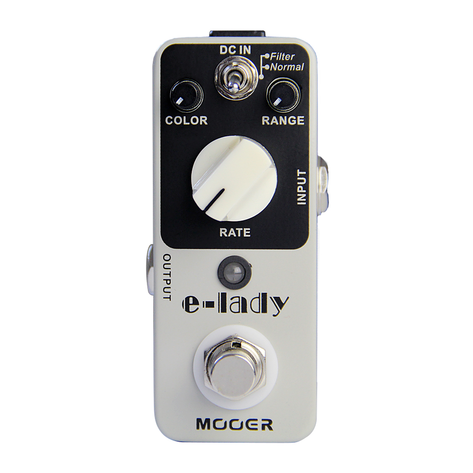 PROMOTION!!NEW Effect Pedal /MOOER E-lady Pedal True bypass Classic analog flanger sound eleclady effect mooer mini classic optical electric compressor effect pedal yellow comp true bypass with smooth attack and decay sound