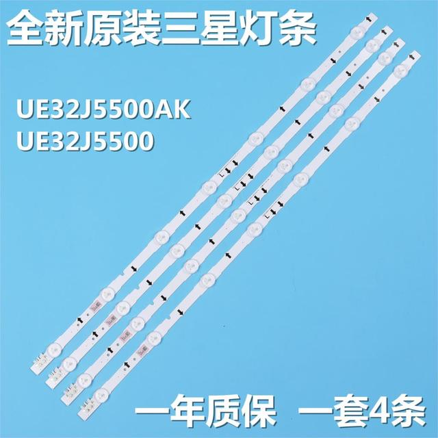 $  New 4 PCS 7LED 647mm LED backlight strip for Samsung UE32J5500AK D4GE-320DC1-R2 D4GE-320DC1-R1 Bn96-30443A 30442A 2014SVS32FHD