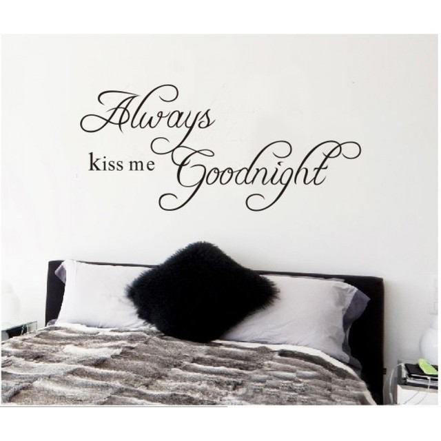 Always Kiss Me Goodnight Wall Quotes Stickers Nursery Lettering For Room 8097