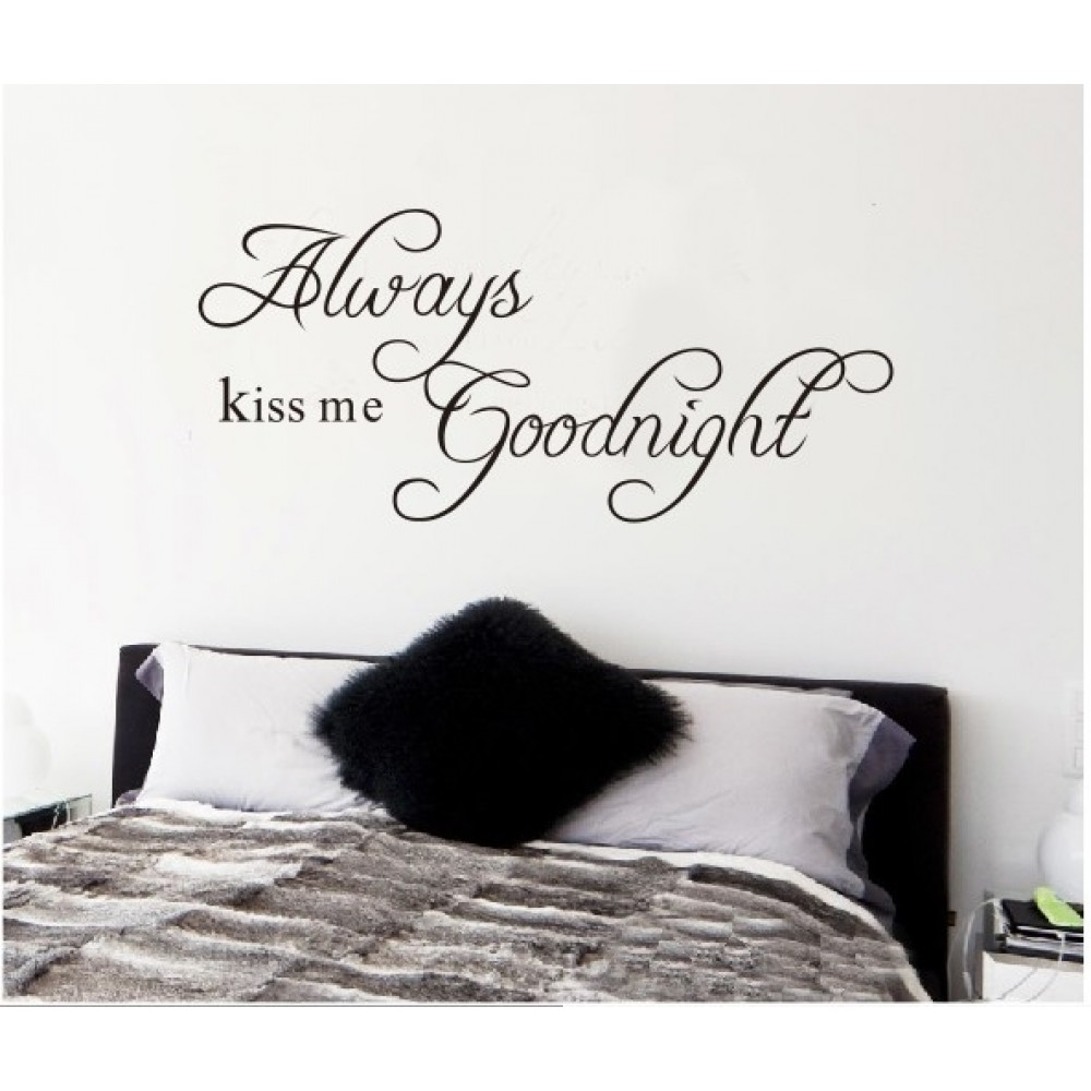 Always Kiss Me Goodnight Wall Art popular wall stickers quotes goodnight-buy cheap wall stickers