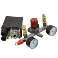 J34 Free Shipping REGULATOR HEAVY DUTY Air Compressor Pump Pressure Control Switch Valve Gauge
