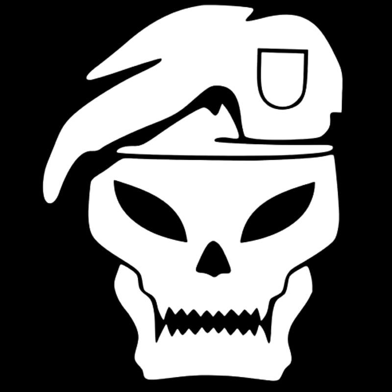 13.2cm*16.4cm Call Of Duty Skull Fashion Vinyl Car-Styling Car Sticker Black/Silver S3-5367