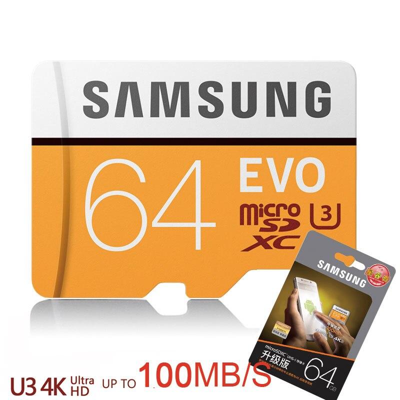 Tarjeta micro sd Samsung 64 gb classe 10 cartão de memória microsd de 64 gb sdhc sdxc tf cartao de memoria de para 4 k câmera zangão & celular