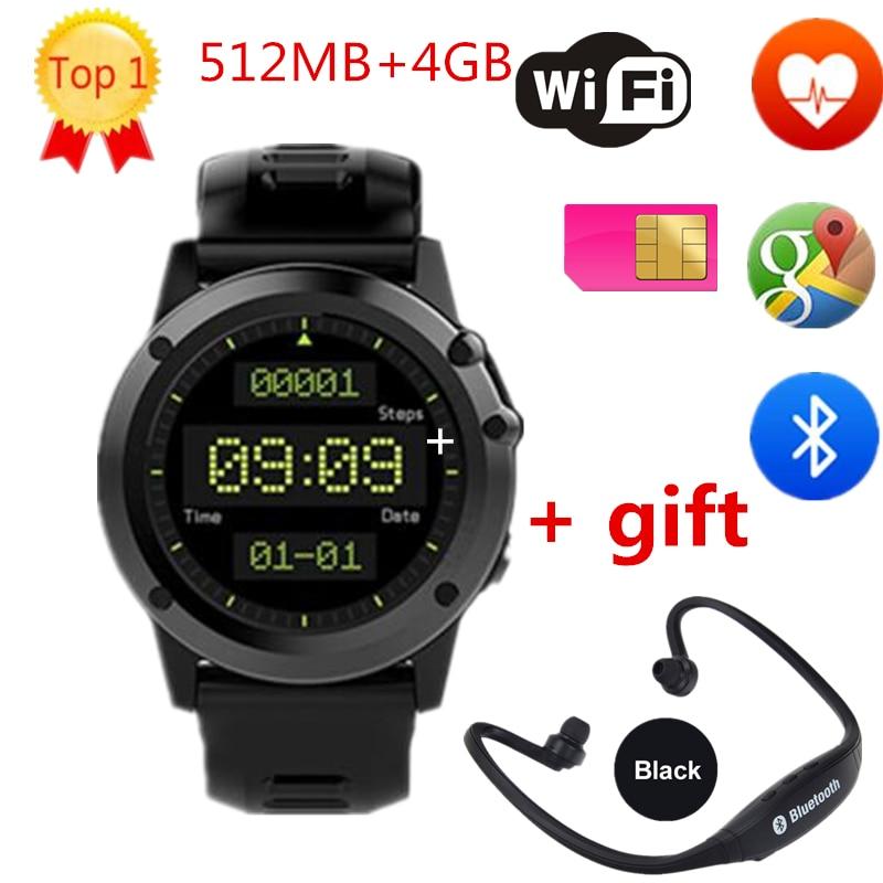 imágenes para H1 smart watch heart rate monitor wifi 3g ip68 a prueba de agua de 1.39 pulgadas 400*400 de la tarjeta sim smartwatch para android ios teléfonos inteligentes