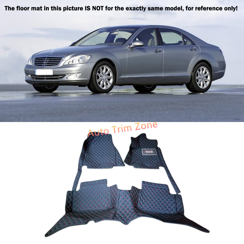 Black Interior Floor Mats & Carpet Foot Pad For Mercedes Benz S-Class 2006-2009 W221 auto fuel filter 163 477 0201 163 477 0701 for mercedes benz