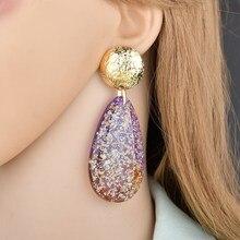 1 pair of new atmospheric resin drop earrings ladies earrings personality street shoot long earrings pair of rhinestoned alloy butterfly earrings