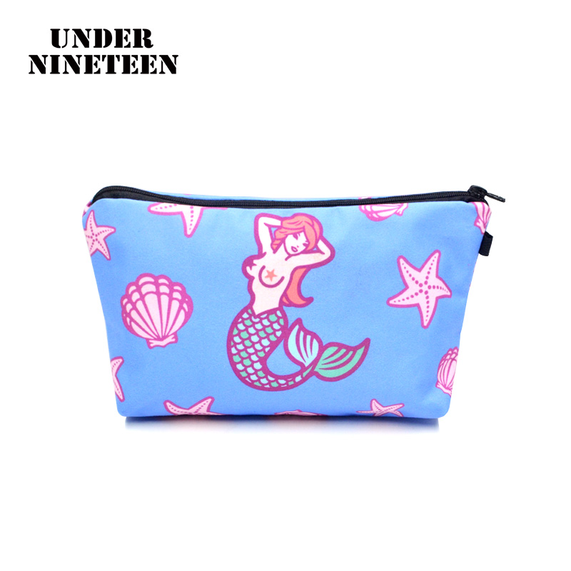 Under Nineteen 2017 Fashion Makeup Bag Female Cosmetic Bag Neceser Travel Toiletry Organizer Pouch Large Capacity Storage Pouch