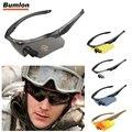 BUMLON Ciclismo Óculos Polarizados Condução Óculos Goggles Militar Caminhadas Exército Tático Óculos De Sol com 3ls 4/5 Lente RL12-0005