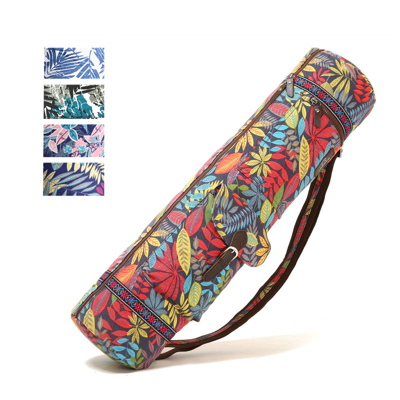 Printed Yoga Bag 72*18*18cm Yoga mat Bag Exersice Mat Bag Pilates Pad Backpack Sports Knapsack Fitness Dance Gymnastics Mat Case canvas elephant yoga mat bag large capacity gym bag sports handbag fitness dance gymnastics pilates athletes exercise mat bags