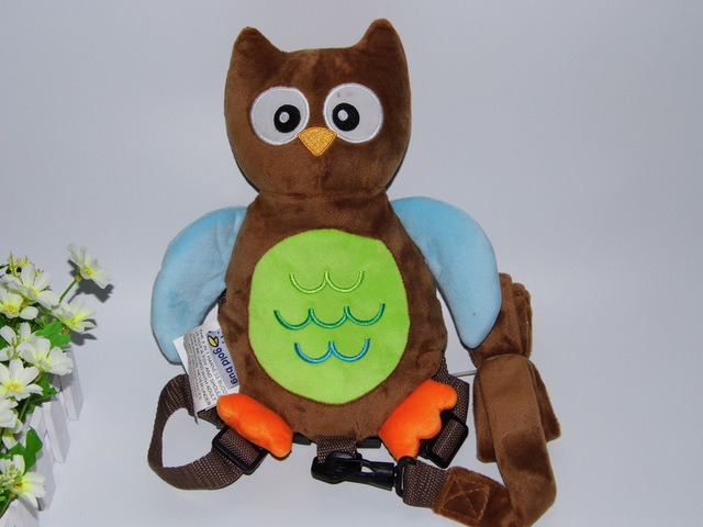 2 in 1 Harness Buddy Brown Owl Babi Safety Animal Backpacks Bebe Walking Reins Toddler Leashes GB-011