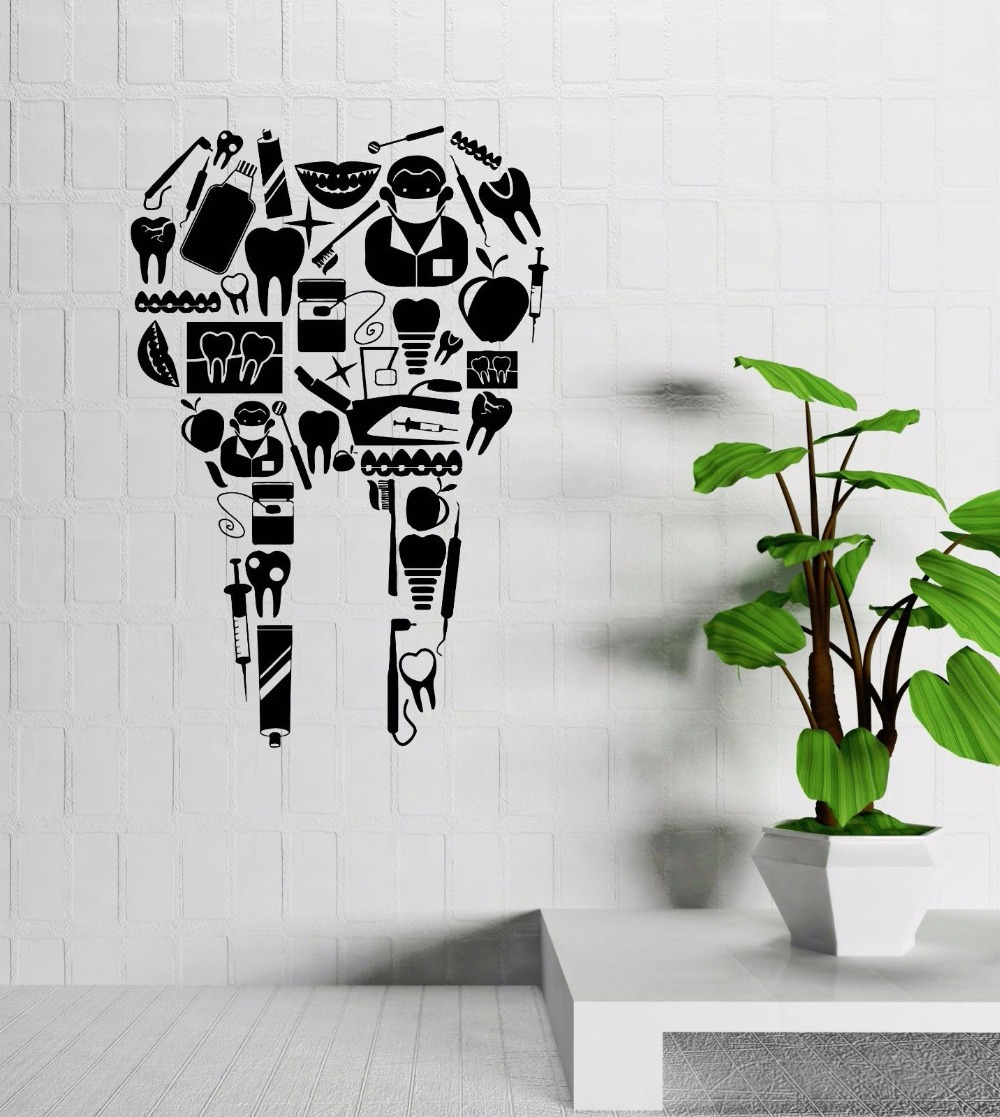 Hospital Vinyl Wall Decal Tooth Dentist Doctor Hospital Pharmacy Mural Wall  Sticker Tooth Hospital Window Glass Decal Decoration In Wall Stickers From  Home ... Part 39