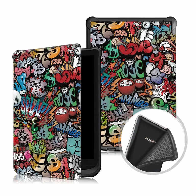 سليم الذكية لينة أغطية جلد بولي يوريثان ل Pocketbook 616 627 632 حافظة Funda ل PocketBook اللمس لوكس 4 الأساسية لوكس 2 حافظة