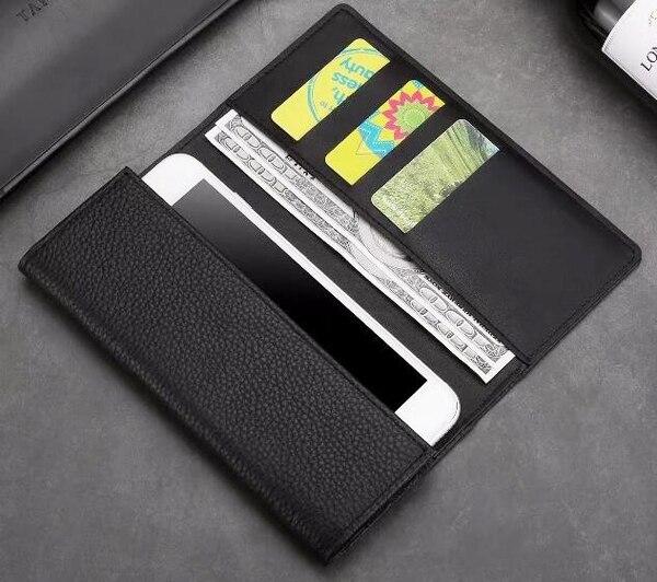Véritable Portefeuille En Cuir Cas de Téléphone Mobile Pour iPhone 8 Plus, Leagoo S8/S8 Pro/T5/T5S/M7/Requin 5000/M8/T10/M5 PLUS/Elite 3/M8 Pro