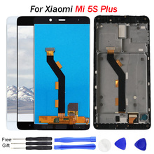 For Xiaomi 5S Plus LCD Display Mi5S Plus Touch Screen Panel Glass Digitizer Assembly Frame For XiaoMi M5S plus Display LCD for xiaomi mi 5s mi5s lcd display touch screen 100