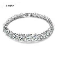 Top Quality Luxury Jewelry Classic Design AAA Swiss Zircon Roman CZ Bracelets For Women Jewelry Gift