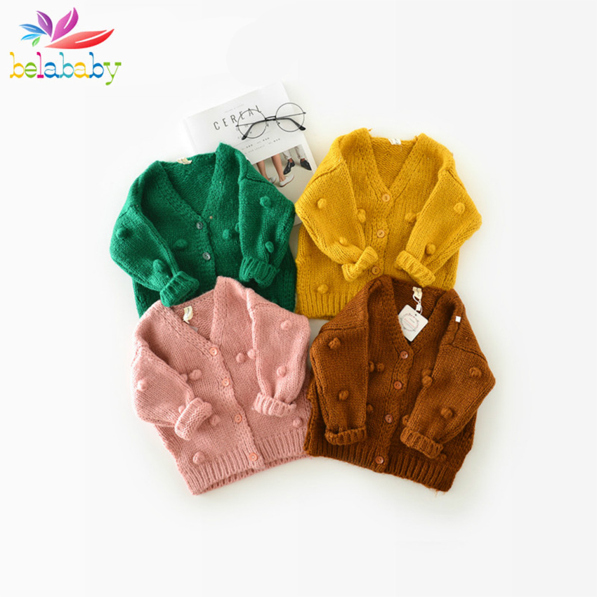 Baby Girl Knit Cardigan Sweater Infant Button Down Woollen Sweater Baby Girl's Open Front Cardigan Toddler Spring Fall Outerwear Superior Performance