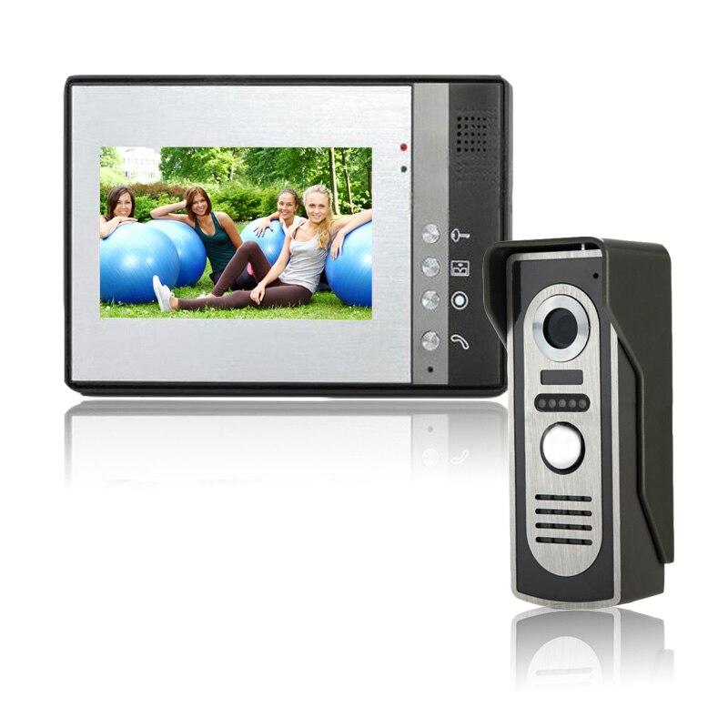 bilder für HD Kameras 7 zoll Verdrahtete Videotürtelefon Türklingel System haussprechanlage ausrüstung Home Security indoor Intercom IR Kameras