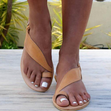 Summer Sandals Women Plus Size 43 Flats Female Casual Clip Toe Gladiator Shoes PU Leather Ankle Strap Leisure Solid Footwear new fashion summer gladiator ankle strap women shoes flat sandals fretwork flats women leisure footwear size 34 43 pa00798