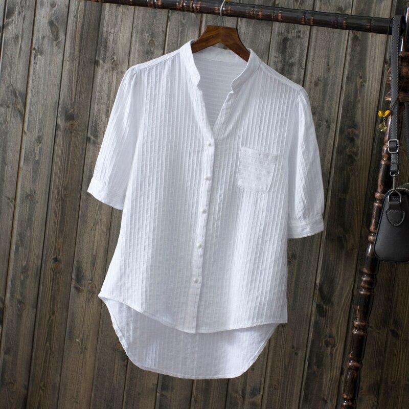Chemise en coton à manches courtes pour  ...