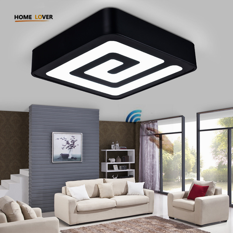 Modern led ceiling lights with Remote control for living room bedroom luminarias para sala dimming indoor home decoration abajur modern led ceiling lights black white square office light with dimming remote home lighting for living room dining ceiling lamps