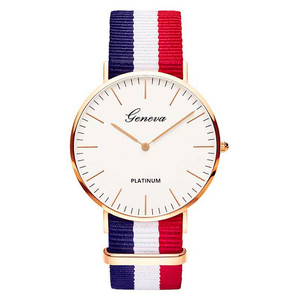 Nylon Strap Style Quartz Women Watch Top