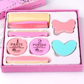 1set make up set Nail Conditioner & care buffering cream care tool Polishing supplies set kit nail buffers set 1