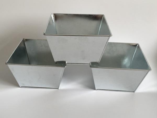 Box Water Metal Planter Square