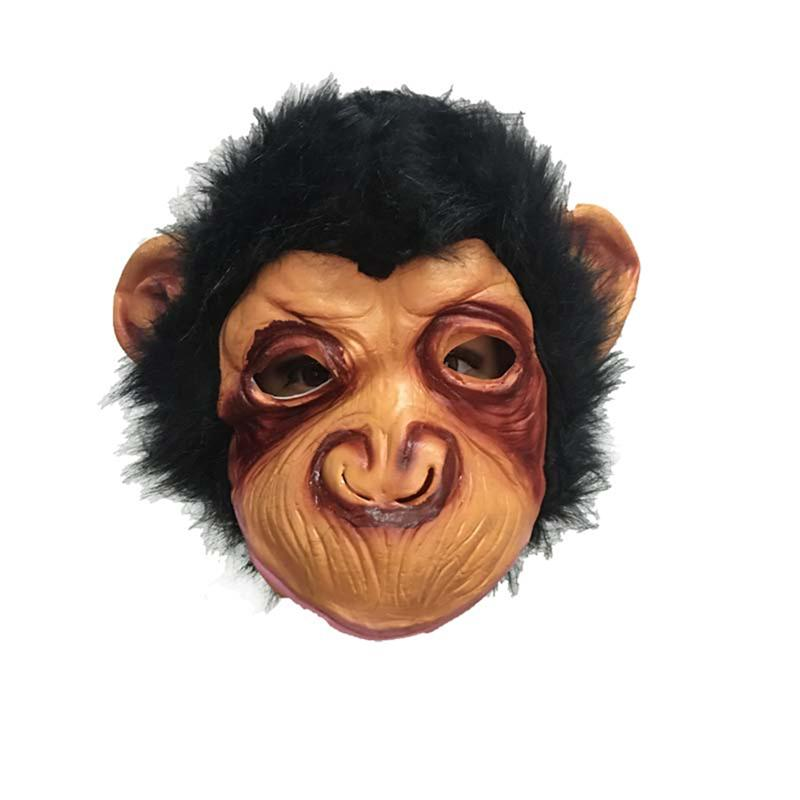 US $9 3 24% OFF|1pc Terror Halloween Chimpanzee Horror Mask Scary Mask  Terror Devil Fancy Dress Party Props For Dance Shows Cosplay -in Party  Masks