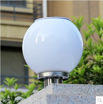 Outdoor Solar Lights Super Bright Led Road Spherical Cell Wall Garden Landscape Column Round