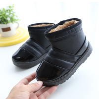 Winter Boys Snow Boots Waterproof Pu Leather Children S Shoes Solid Winter Shoes For Girls Warm