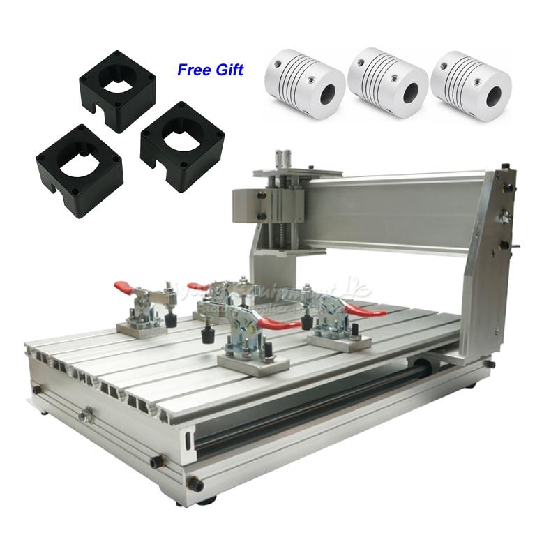 Ball Screw Mini CNC 3040 Z-DQ CNC Engraving Machine Frame Kit with 3pcs Couplings Stepper Bracket 4pcs CNC Clamp for CNC RouterBall Screw Mini CNC 3040 Z-DQ CNC Engraving Machine Frame Kit with 3pcs Couplings Stepper Bracket 4pcs CNC Clamp for CNC Router